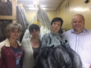 Guests from Saltykovsky fur farm (Moscow region)