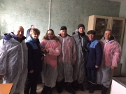 Guests from Bagrationovsky mink farm in Savvatievo.